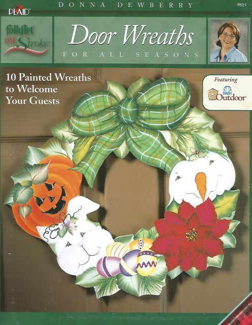 Decorative Painting Bookstore Door Wreaths For All Seasons Donna