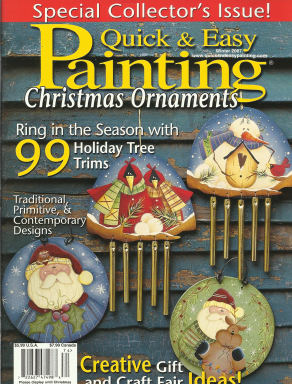 Quick And Easy Painting Winter 2007 Christmas Ornaments